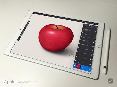 Apple by Procreate ipad pro draw pencil procreate apple