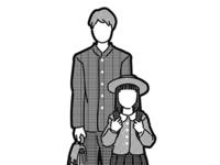 (Illustration material / Black and white)