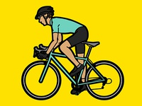 Cyclist (Illustration material)