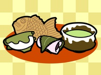 Japanese sweets (Illustration material)