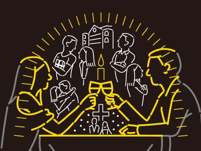Cheers (Illustration material) illustration