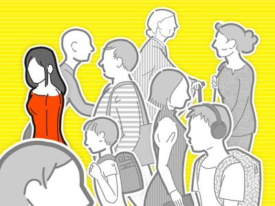 People (Experiment of shaded) people vector illustration
