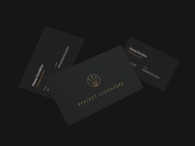 Perfect Signature behance design loop animation logodesign brand design luxury brand jewellery luxury motion logotype identity businesscard business brand identity animation brand logo