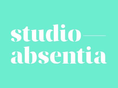 Studio—Absentia Logo type visual identity branding logo logotype typography