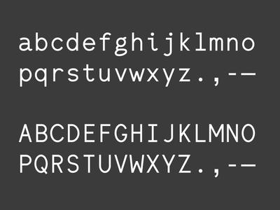 WIP Monospace type typography typeface mono monospace font font design