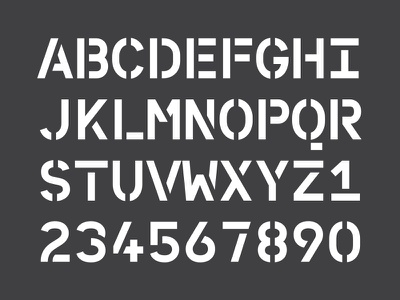 WIP Personal branding - character set type typeface typography stencil monospace