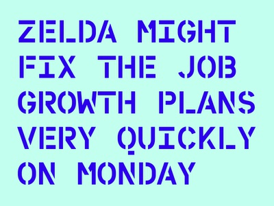 WIP personal branding type typography typeface stencil monospace