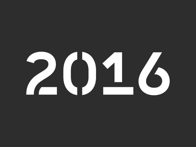 2016 typeweekly stencil typography