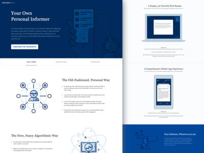 Landing page for news app by Bling Nguyen - Dribbble