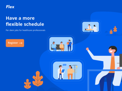 Landing page for health portal