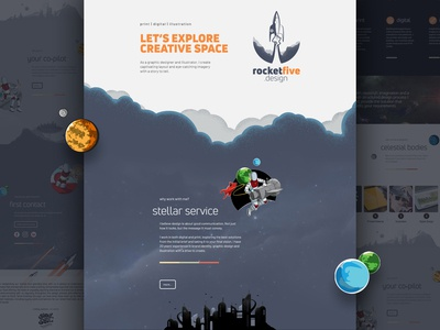 Rocket Five Design Website