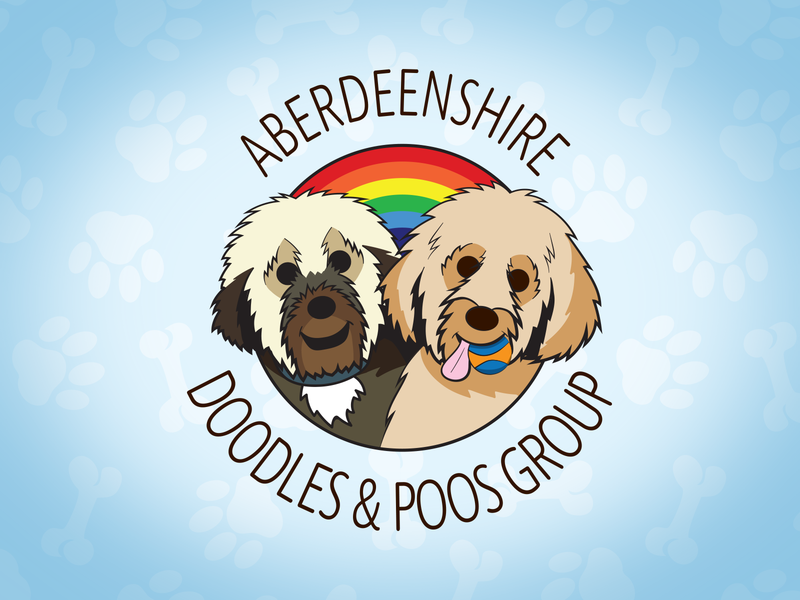Aberdeenshire Doodles And Poos Group Logo pets cockapoo labradoodle dogs branding illustrator idenity adobe illustrator logo