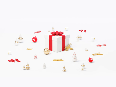 Christmas Card Animation design illustration 3d motion design animation
