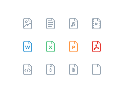 Attachment Icons upload email document doc photo zip attach attachment icons