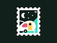 Stamp I: Camping