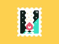 Stamp II: Bonfire