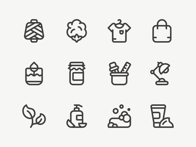 Shop Icons illustration design outline iconography line vector stroke icon