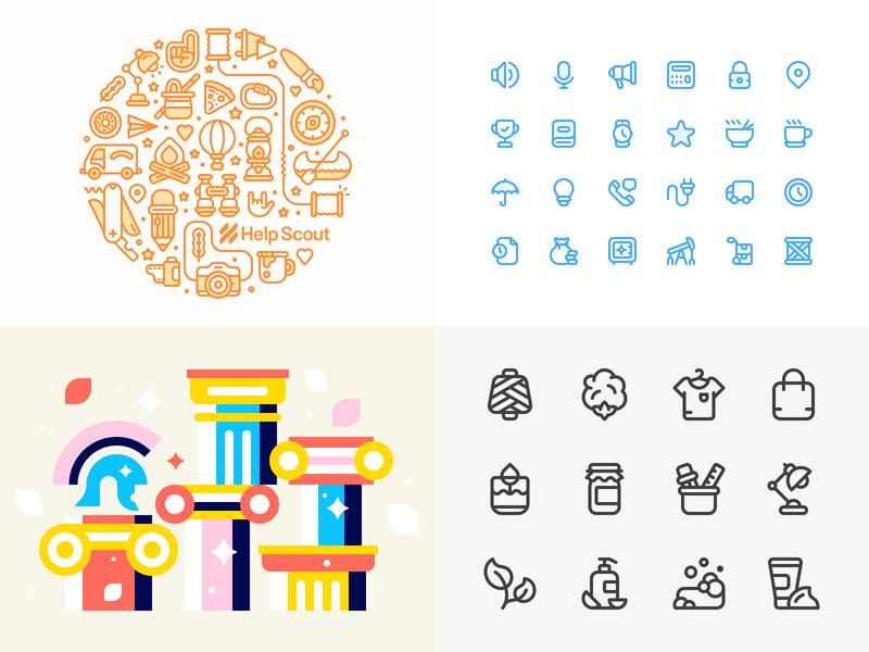 2018 outline design iconography line vector stroke icon illustration