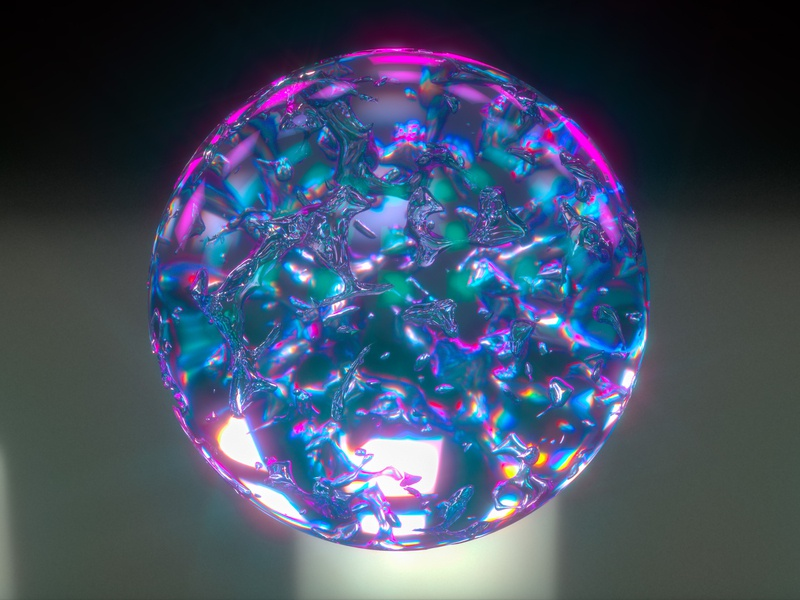 Crystal Ball hdri hdr design greyscalegorilla x-particles sphere ball render crystal cgi 3d octane cinema 4d