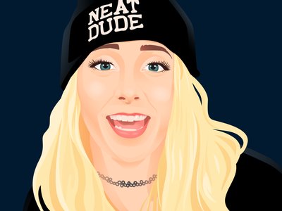 Jenna Marbles stay at home pale hair fair hair light hair blonde hair blond hair fanart blue eyes vector portrait blogger youtube woman lady girl portraiture picture portrait illustration vector jenna marbles