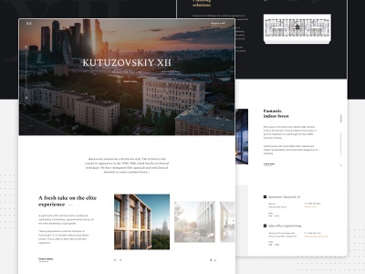 Other landing pages - KUTUZOVSKIY XII build building luxe elite modern landing business