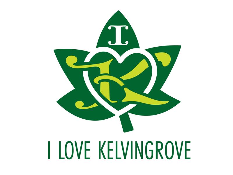 I love Kelvingrove branding graphic design illustrator minimal flat typography design logo vector illustration branding