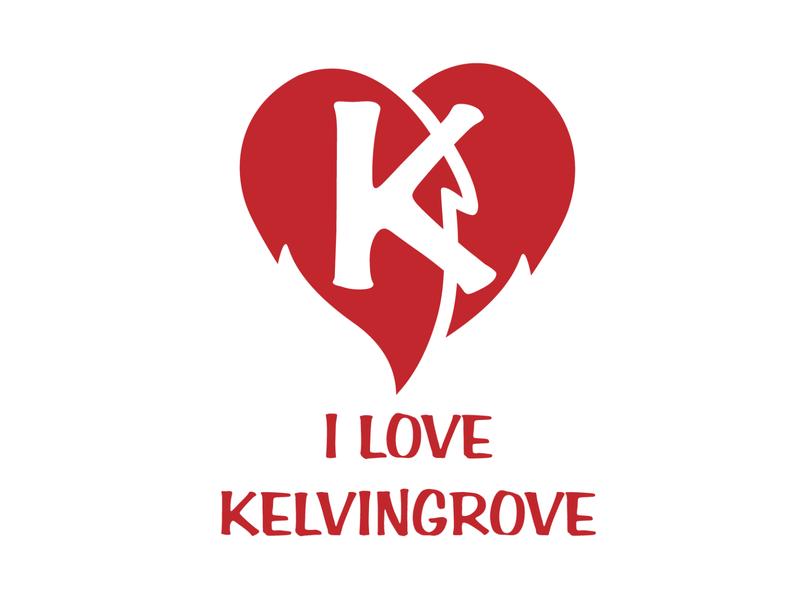 I love Kelvingrove 2 graphic design illustrator minimal flat typography design logo vector illustration branding