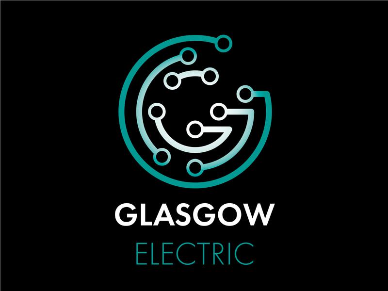 Glasgow Electric Circuits clean lettering illustrator minimal flat typography logo vector illustration branding