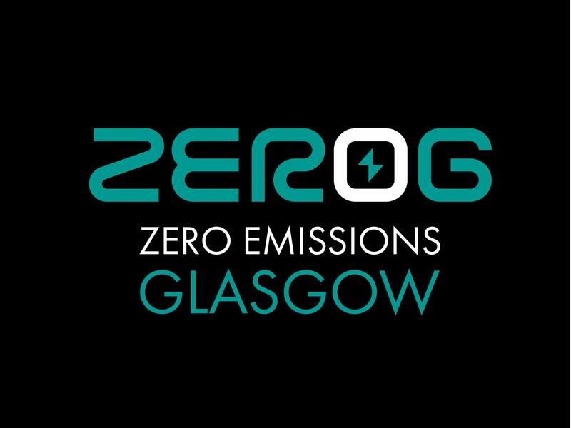 Zero G - Zero Emissions Glasgow clean flat lettering graphic design illustrator typography design logo vector branding