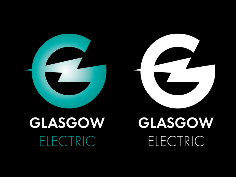Glasgow Electric G Bolt graphic design identity illustrator minimal flat typography design logo vector branding