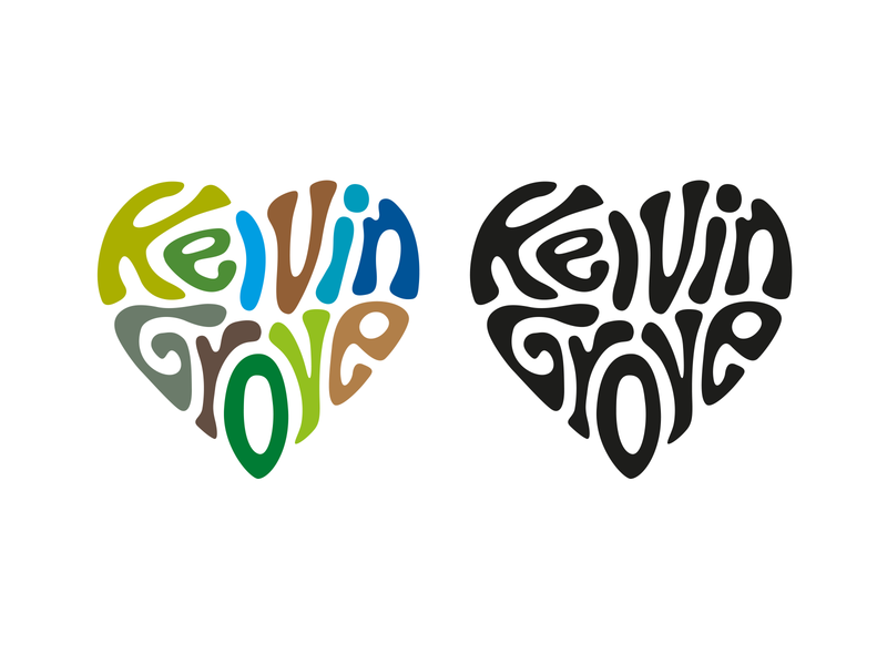 Love Kelvingrove Branding Proposal graphic design identity minimal illustrator flat typography logo vector illustration branding