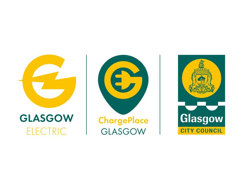 Glasgow Electric Accompanying Logos identity illustrator minimal flat typography design logo vector illustration branding