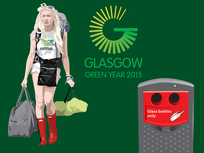 Green Year Festival Goer Illustration