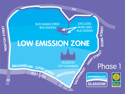 Low Emission Zone Simplified Map