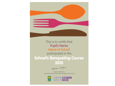 Schools Banqueting Certificate