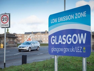 Low Emission Zone Glasgow Indicative Signs