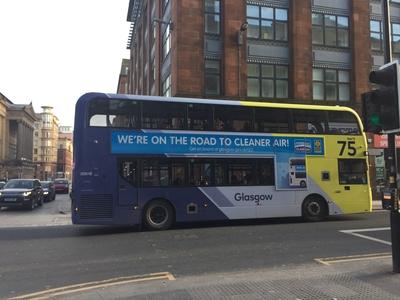 Low Emission Zone Glasgow Bus Super T sides