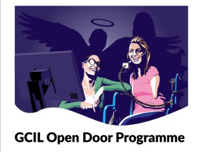 GCIL Open Door Programme Disability graphic design clean identity illustrator minimal flat design vector illustration branding