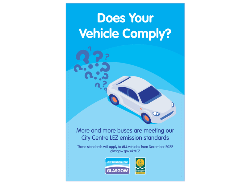 Low Emission Zone Glasgow   Bus Shelter Ad identity illustrator minimal flat typography design logo vector illustration branding