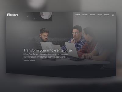 Liferay — Transform your whole enterprise. zeno rocha homepage video svg mask liferay