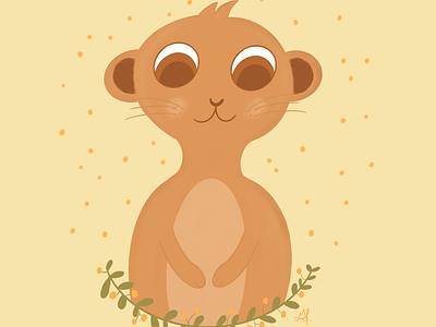 Baby suricate procreate baby suricate art animal design cute illustrator art illustration