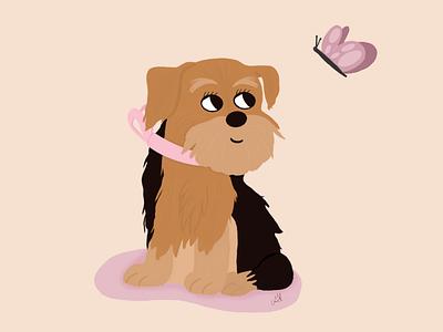 Cute dog love procreate dog art animal design cute illustrator art illustration