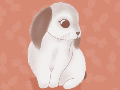 Bunny love procreate bunny rabbit art animal design cute illustrator art illustration