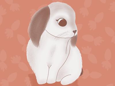 Bunny love procreate bunny rabbit art animal design cute illustrator art illustration