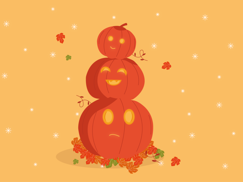 Pumpkins halloween illustrator art illustrator illustration pumpkins