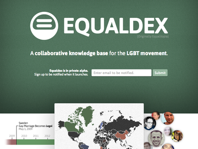 Equaldex.com Landing Page