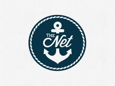 The Net 2 logo anchor nautical rejected circle rope blue vector
