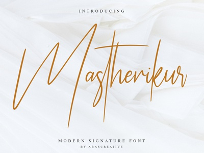 Mastherikur Modern Signature Font watermark trademark typography design type art typedesign cool font signature type typography handmade typeface stylish casual handwritten handwriting hand lettering design branding fonts font