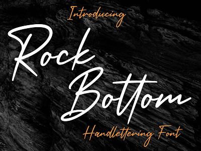Rock Bottom | Handwritten Font modern elgant stylish type script typography script font typeface handwritten handwriting hand lettering design branding fonts font