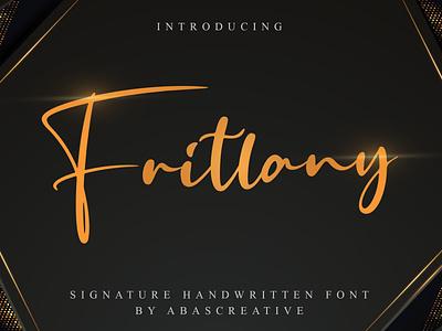 Fritlany | Handwritten Font script font typeface stylish design branding handwritten handwriting hand lettering fonts font